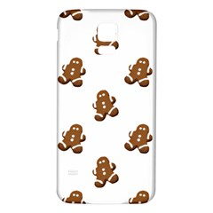 Gingerbread Seamless Pattern Samsung Galaxy S5 Back Case (white)