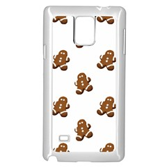 Gingerbread Seamless Pattern Samsung Galaxy Note 4 Case (White)