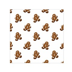 Gingerbread Seamless Pattern Small Satin Scarf (square)