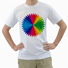 Rainbow Seal Re Imagined Men s T Shirt (white) (two Sided)