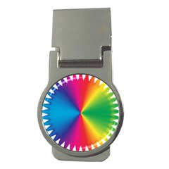 Rainbow Seal Re Imagined Money Clips (round)