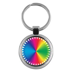 Rainbow Seal Re Imagined Key Chains (Round)