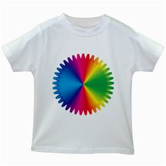 Rainbow Seal Re Imagined Kids White T Shirts