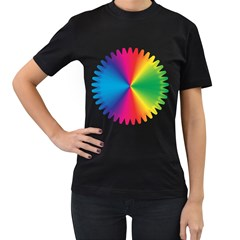Rainbow Seal Re Imagined Women s T Shirt (black) (two Sided)