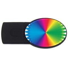 Rainbow Seal Re Imagined USB Flash Drive Oval (4 GB)