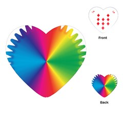 Rainbow Seal Re Imagined Playing Cards (heart)