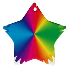 Rainbow Seal Re Imagined Star Ornament (two Sides)