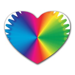 Rainbow Seal Re Imagined Heart Mousepads