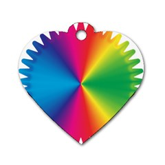 Rainbow Seal Re Imagined Dog Tag Heart (one Side)