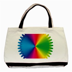 Rainbow Seal Re Imagined Basic Tote Bag (two Sides)