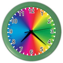 Rainbow Seal Re Imagined Color Wall Clocks