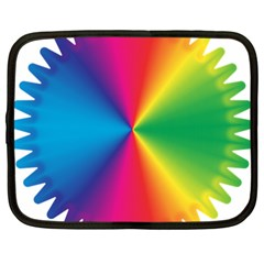 Rainbow Seal Re Imagined Netbook Case (large)