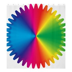 Rainbow Seal Re Imagined Shower Curtain 66  X 72  (large)