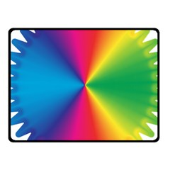 Rainbow Seal Re Imagined Fleece Blanket (small)
