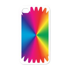 Rainbow Seal Re Imagined Apple iPhone 4 Case (White)