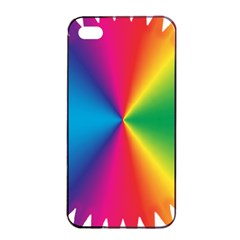 Rainbow Seal Re Imagined Apple iPhone 4/4s Seamless Case (Black)