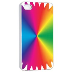 Rainbow Seal Re Imagined Apple Iphone 4/4s Seamless Case (white)