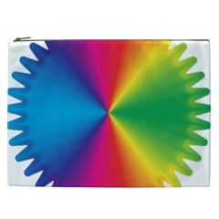 Rainbow Seal Re Imagined Cosmetic Bag (xxl)