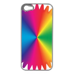 Rainbow Seal Re Imagined Apple iPhone 5 Case (Silver)