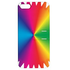 Rainbow Seal Re Imagined Apple iPhone 5 Hardshell Case with Stand