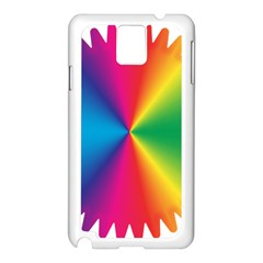 Rainbow Seal Re Imagined Samsung Galaxy Note 3 N9005 Case (white)