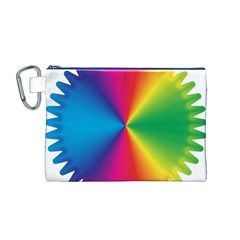 Rainbow Seal Re Imagined Canvas Cosmetic Bag (m)