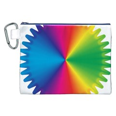 Rainbow Seal Re Imagined Canvas Cosmetic Bag (xxl)
