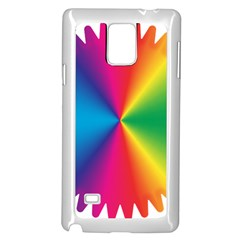 Rainbow Seal Re Imagined Samsung Galaxy Note 4 Case (white)