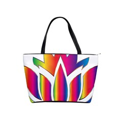 Rainbow Lotus Flower Silhouette Shoulder Handbags