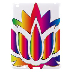 Rainbow Lotus Flower Silhouette Apple Ipad 3/4 Hardshell Case (compatible With Smart Cover)
