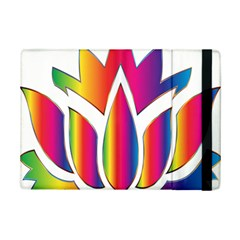 Rainbow Lotus Flower Silhouette Ipad Mini 2 Flip Cases