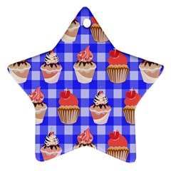Cake Pattern Ornament (star)