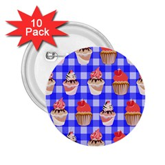 Cake Pattern 2.25  Buttons (10 pack)