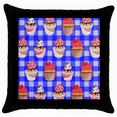 Cake Pattern Throw Pillow Case (black)