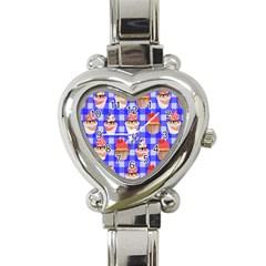 Cake Pattern Heart Italian Charm Watch