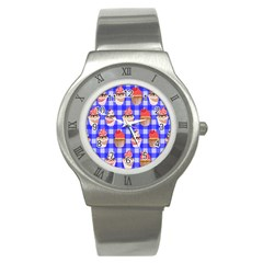 Cake Pattern Stainless Steel Watch