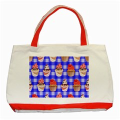 Cake Pattern Classic Tote Bag (Red)