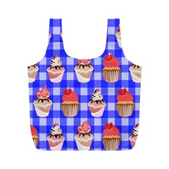 Cake Pattern Full Print Recycle Bags (m)