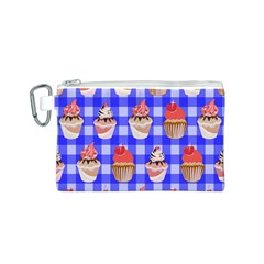 Cake Pattern Canvas Cosmetic Bag (S)