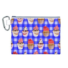 Cake Pattern Canvas Cosmetic Bag (l)