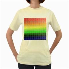 Rainbow Love Women s Yellow T-Shirt