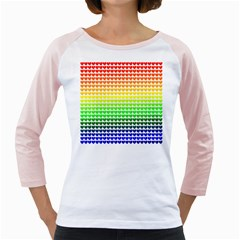 Rainbow Love Girly Raglans