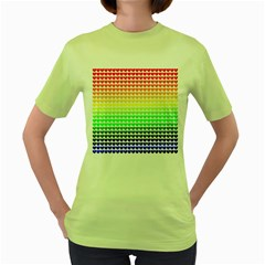 Rainbow Love Women s Green T Shirt