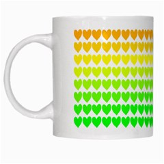 Rainbow Love White Mugs
