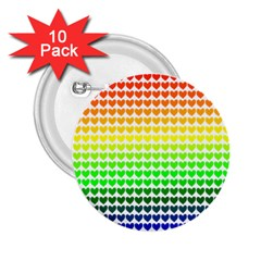 Rainbow Love 2.25  Buttons (10 pack)