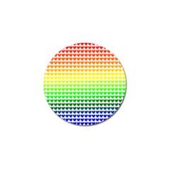 Rainbow Love Golf Ball Marker