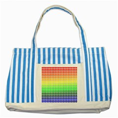 Rainbow Love Striped Blue Tote Bag