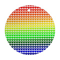 Rainbow Love Round Ornament (Two Sides)