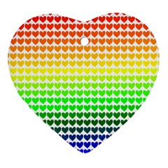 Rainbow Love Heart Ornament (two Sides)