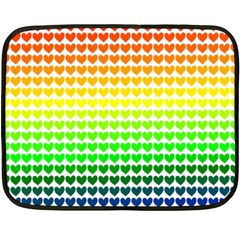 Rainbow Love Double Sided Fleece Blanket (Mini)